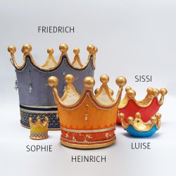 Krone LUDWIG/SILBER himmelblau